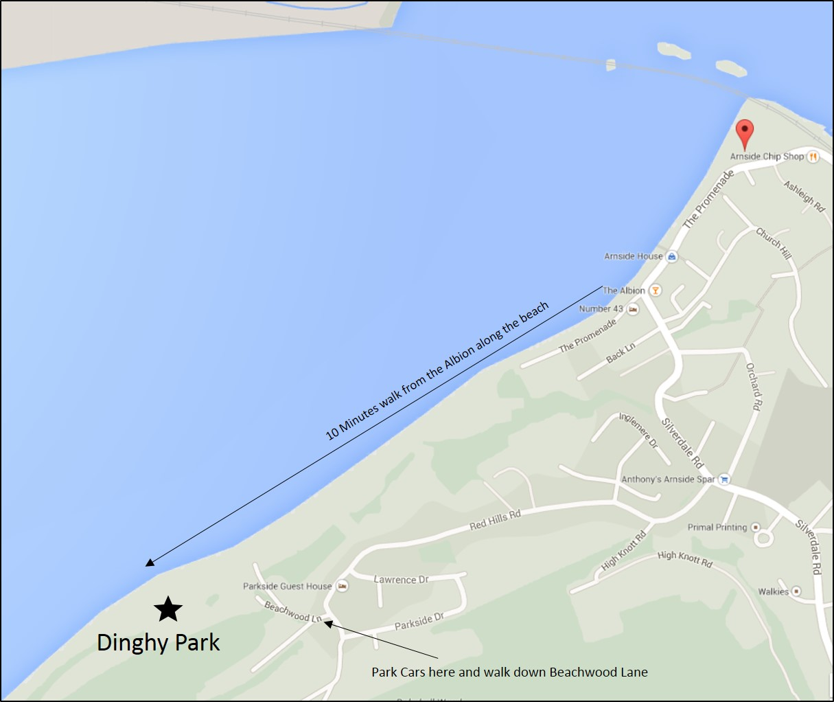 Dinghy Park Location